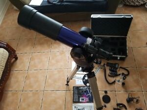 See MARS! Meade EXT 90EC tracking telescope w\tripod &  extras