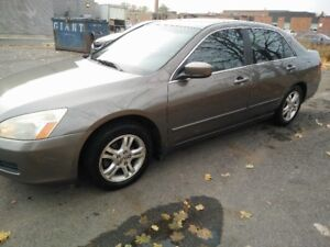 2006 Honda Accord ( Leather + roof,Alloys with Winter tires)