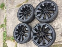 VW scirocco alloys 4 new tyres good condtion(golf t4 t5 Passat polo mk4 mk5)