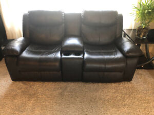 Ashley Power Leather Reclining Loveseat Like New
