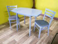 Dining / Kitchen Table & 2 Chairs For Reupholstery - Can Deliver For £19