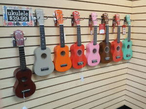 BRAND NEW Ukulele selection!