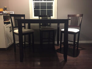 Bar Height Dining Set with 4 Chairs