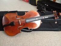 1/8 Batoni violin, handmade in Italy