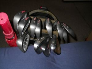 golf clubs ,bag, new balls, new gloves, FJ shoes, towel,umbrella