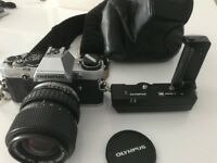 Olympus OM10 Camera complete with OM Winder 2, Zuiko 35-70 mm Auto-Zoom Lens