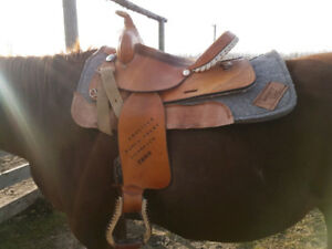 Western Rawhide Saddle For Sale