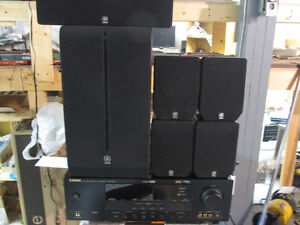 YAMAHA HRT-6030 AV RECEIVER WITH COMPLETE SYSTEM SPEAKERS