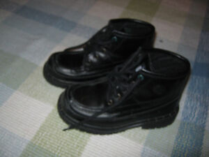 Tommy Leather boots (size 12 in kids) Great for Fall St. John's Newfoundland image 2