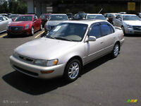 WE BUY TOYOTA COROLLA 1993 TO 1997 AT THE BEST PRICE