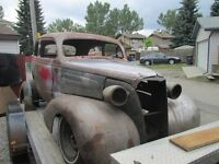 1937 CHEVROLET 2 DOOR SEDAN HOT ROD PROJECT