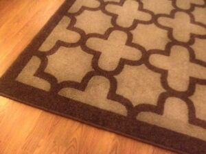 Large Modern Area Rug. Brown tones. See photos for actual size