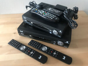 x2 Bell Fibe Motorola VIP1200 VIP1232 HD TV PVR and slim remotes