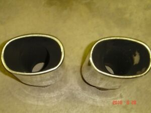 """Stainless Steel 3"""" exhaust tips."""