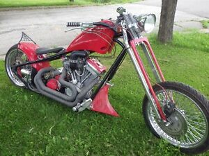 custom springer chopper motorcycle
