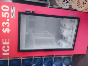 Ice cooler...holds over 100-5lb bags of ice