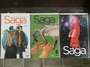 Saga #1, 2, 3 First Printing: PRICE REDUCED