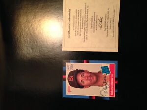 Roberto alomar autographed rookie card