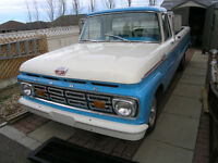 1964 F100 FORD Custom Cab longbox STYLESIDE PICKUP