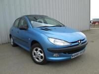 PEUGEOT 206 1.4 PETROL AUTOMATIC AIR CON LOW MILEAGE