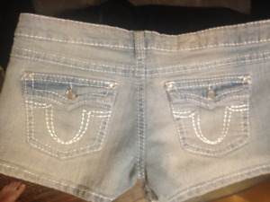 Jean Shorts with Jewel Accents- Size: LRG