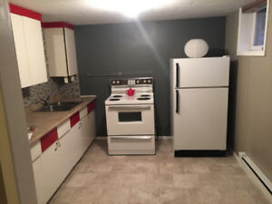 Available October 1,  2 bedroom basement suite. Quiet, spacious