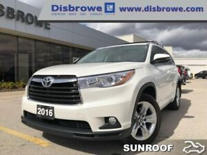 2016 Toyota Highlander Limited  - One owner - Trade-in