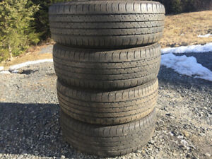 Four Firestone 195/65R15 Summer Tires