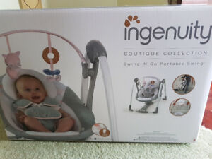 NIB Ingenuity Boutique Collection Swing n Go Portable Swing
