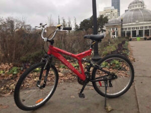No.A Famous full alum. Canada made Raleigh red bike