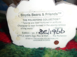 Boyds Bears and Friends Numbered Figures.  $30 Each Both for $50 Prince George British Columbia image 2