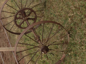 Antique axle and wheels