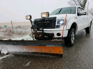 SOLID WORK TRUCK WITH WORKING PLOW