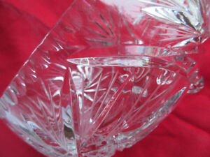 Vintage -extremely rare -CRYSTAL PINWHEEL BOWL -not used