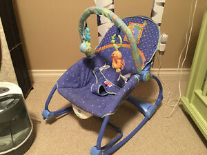 Baby Rocking Chair with Play Bar Attachment