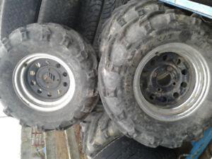 4 ATV 26x12x12 Tires and Chrome Rims