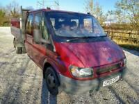 05 FORD TRANSIT 2.4 TDI CREW CAB 90 TWIN AXLE HIGH SIDE TIPPER TOW BAR PX SWAP