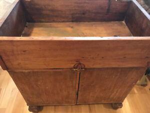 Rare antique sink stand, wood