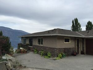 Semi-Waterfront Furnished Okanagan Centre Lakeview Home