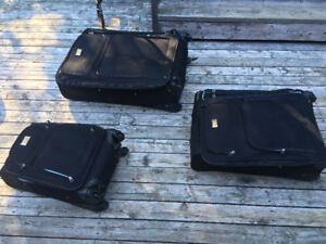 3 Peice Luggage set plus 11 other bags and backpacks