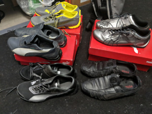 5 pairs PUMA mens sneakers size 9.5 or 10. New or hardly worn