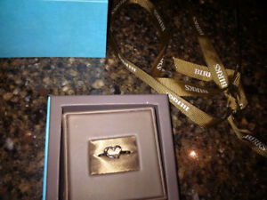 Birks heart silver ring  ..  new