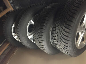 """4 18"""" GT Radial winter tires with aluminum rims 245/60R18"""
