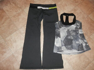 3 sets of active/exercise clothing (Lululemon)