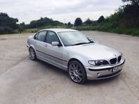 """BMW 320D ES 03/2003 PLATE """"""""19inch"""""""" M3 ALLOYS F/S/HISTORY """"""""""""""""FULL GREY LEATHER INTERIOR"""
