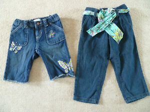 Girls Old Navy Jean shorts and Capris