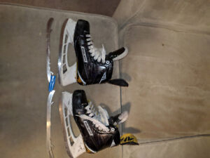 Bauer S180 2 seasons Step Steel blades and extra Blades size 6jr