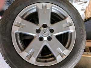 "18"" toyota rav4 oem wheels with Michelin tires."