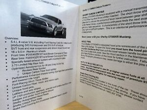 Shelby GT500KR Supplement Book *NEW* Strathcona County Edmonton Area image 2
