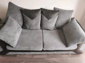 3+2 sofa grey/black